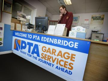 PTA Garage Services Edenbridge reception area