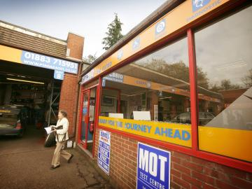 The exterior of our PTA Motorstore  Oxted branch