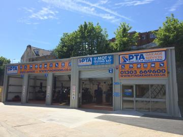 PTA Garage Services Folkestone provides a range of services including MOT testing, car servicing, tyres, brakes, batteries, exhausts, wheel alignment and more