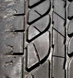 Cracking is a sign of aging in tyres