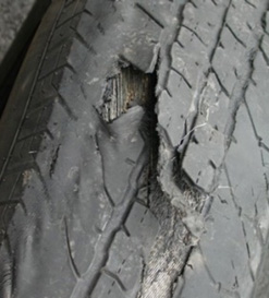 Cuts should be checked by a tyre specialist