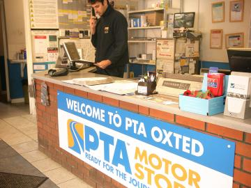 PTA Motorstore Oxted is a state-of-the-art fast-fit centre