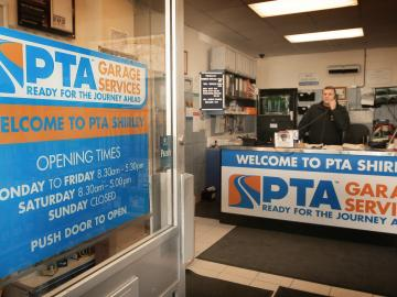 PTA Garage Services Shirley reception area