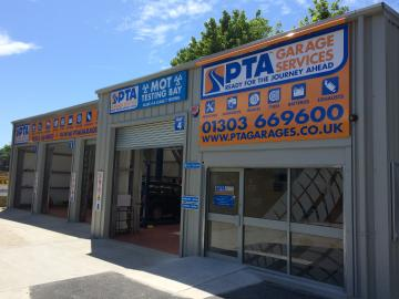 Visit PTA Garage Services Folkestone - ideally situated to serve the areas of Capel le Ferne, Sandgate, West Hougham, Dover, Hythe, Lyminge and Hawkinge
