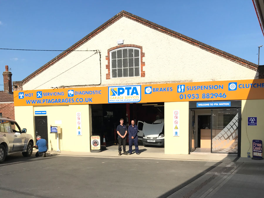 The exterior of our PTA Garage Services Watton branch